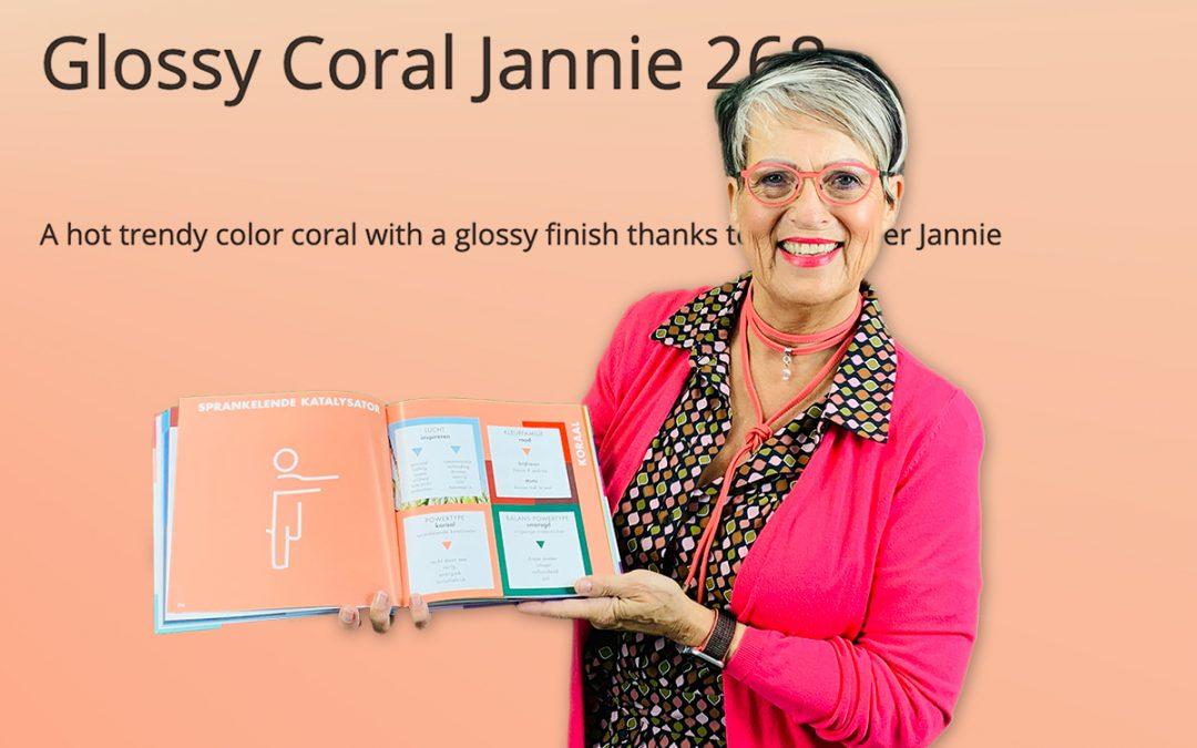Kijken door een roze of koraal bril